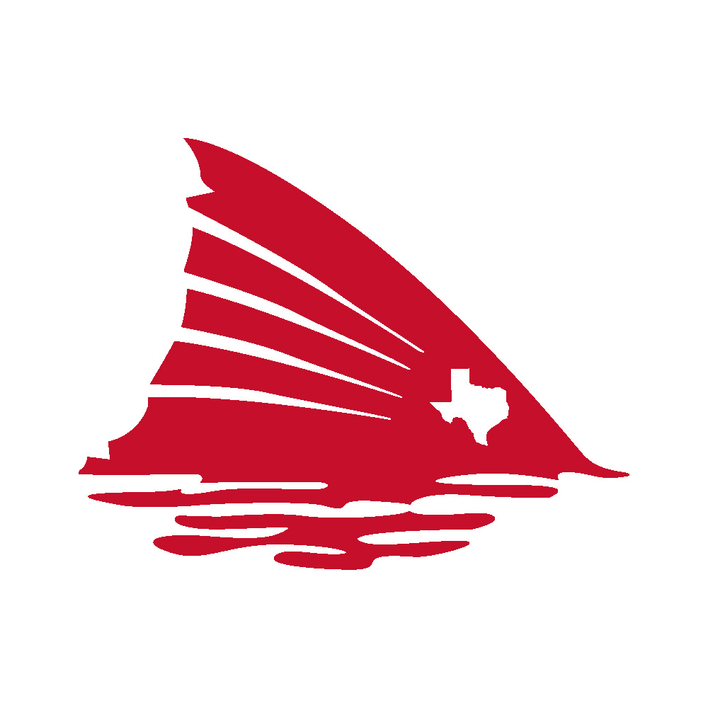 Red Fish Tail with Texas Spot Vinyl Decal Sticker in (Dark Colors ...