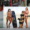Laura Martinez and Laura Maher Posing on the South Flats for SBC Kiteboard Mag