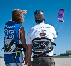 Beginner Kiteboard Lesson on South Padre Island, Texas