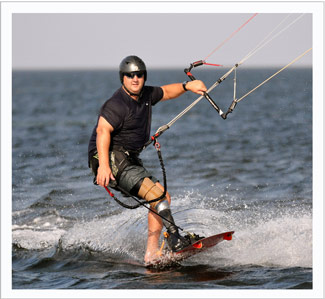 Amputee Kiteboarding Lessons with Jim