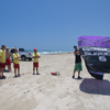 Air Padre Demonstrating Safety to Beach Patrol with Kitesurfing Kites