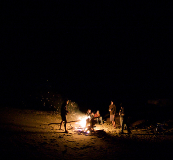 South Padre Island, texas beaches bonfire