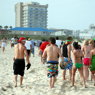 Coca-Cola Beach College Students Spring break south padre