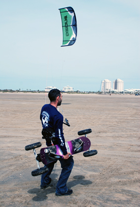 Best Place to Kite Landboard in South PAdre Island Texas