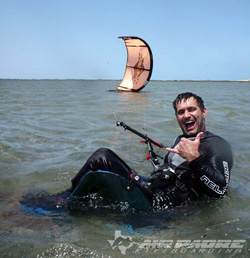 Paraplegic Kiteboarding in South Padre Island