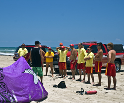 Air Padre Kiteboarding Meets with South Padre Island Beach Patrol