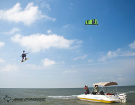 Spoil Bank Kiteboarding on South Padre