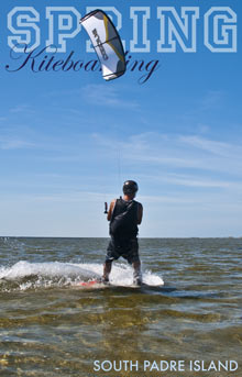 Spring kiteboarding on South Padre Island