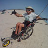 Wheel Chair Kiteboarding on Sand Flats