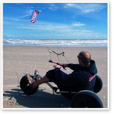 Kite Buggy on the Sand Flats of South Padre Island