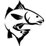 Jumping redfish sticker