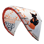 2010 Wainman Hawaii seven meter Gypsy Kitesurfing Kite in white