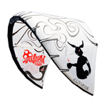 2010 Wainman Hawaii White 9 meter Smoke Kitesurfing Kite