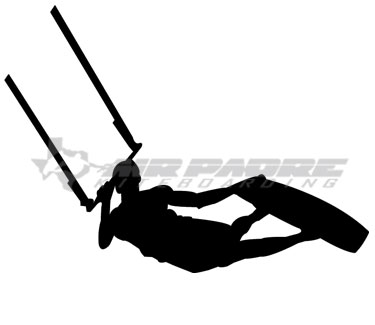 Kiteboarding Darkslide Decal Air Padre Kiteboarding