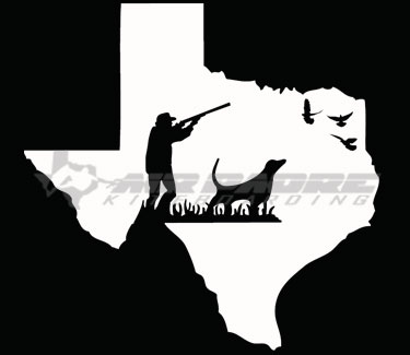 Texas hunter sticker