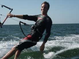 Will Gross air padre kite boarding team