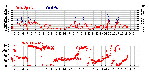 Average Wind Speed South Padre Island